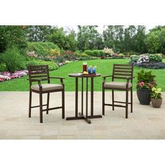 Better Homes and Gardens Lund Valley Faux Wood Balcony Set - Walmart.com