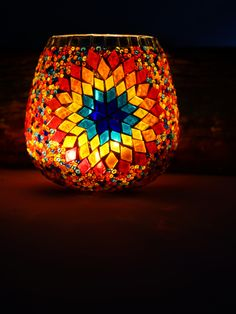 Mosaic-Candle-Holder-large-star-multi-coloured-with-candle.jpg (1368×1824)