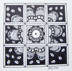 Joey's mosaic flower design #zentangle