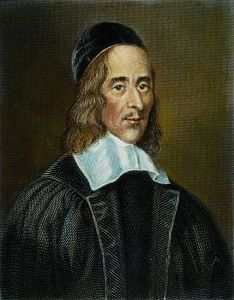 George Herbert (3 april 1593 - 1 maart 1633) Portret door Robert White, 1674