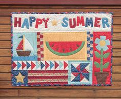 Additional Images of Happy Summer Wall Hanging Kit by Kristin Gassaway - ConnectingThreads.com