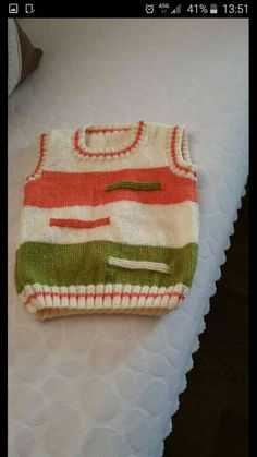 Baby Sweater Knitting Pattern, Knit Baby Sweaters, Baby Knitting Patterns, Knitting Designs, Baby Patterns, Doll Patterns, Crochet Patterns, Baby Boy Vest, Baby Cardigan