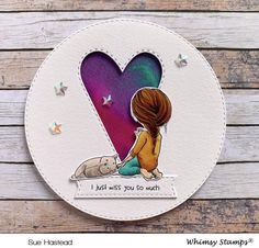 **NEW Soul Sisters Clear Stamps | Whimsy Stamps I Just Miss You, New Soul, Whimsy Stamps, Friendship Cards, Soul Sisters, Crafters Companion, Color Blending, Watercolor Cards, Copic Markers
