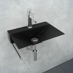 Minimal Wall Bathroom Washbasin Sink Lavatory Vanity, Stainless Steel With Towel Bar Small Bathroom Sinks, Glass Bathroom, Bathroom Stuff, Bathrooms, Metal Sink, Apron Sink, Soft Furnishings, Decoration, Metal Working