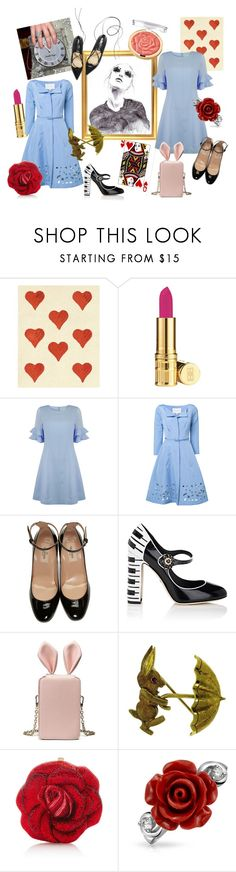 """""""Through The Looking Glass"""" by melissa-bentley-1 ❤ liked on Polyvore featuring GE, Elizabeth Arden, Jovonna, Carolina Herrera, Valentino, Dolce&Gabbana, Cartier, Judith Leiber, Bling Jewelry and Milani"""