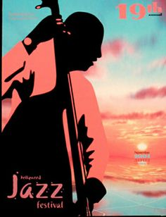 """Contemporary Digital Art - """"Hollywood Jazz Festival Poster"""" (Original Art from Portfolio). Won First Place from the City of Hollywood"""