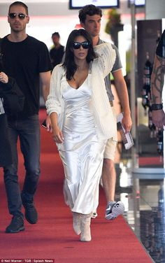 Because she Cannes!Kendall Jenner has competition in town as sister Kim Kardashian made a...