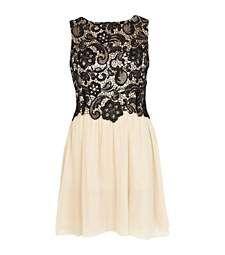 Black Little Mistress lace top prom dress £55.00