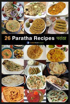 26 Paratha Recipes step by step   26 परांठा - घर पर बनाने के लिए