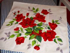 Vintage Red Roses Wilendur Runner Romantic Chic by raggedy10