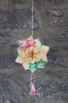 Flor em Origami kusudama by PaperPaste on Etsy