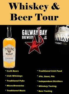 Leave the tourist area for a true Irish pub experience, Join the Whiskey & Beer Tour, Free Whiskey, Guinness & craft beer tasting.  Traditional Irish Music