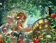 Hot Manga Art by Roka Manga Tv, Art Manga, Manga Anime, Anime Art, Anime Chibi, Hayao Miyazaki, Film Animation Japonais, Animation Film, Studio Ghibli Art