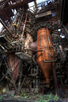 This is not steam punk.this is industrial.as in a chemical plant Old Buildings, Abandoned Buildings, Abandoned Places, Abandoned Factory, Industrial Architecture, Loft Industrial, Industrial Engineering, Industrial Bedroom, Industrial Photography