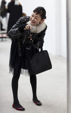 I think I'm a little bit obsessed with the blogger Rei Shito's style. Her blog: http://stylefromtokyo.blogspot.com/