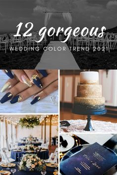 12 gorgeous  wedding color  trends 2021, classic blue luxury wedding color ideas#wedding #weddinginspiration #bridesmaids #bridesmaiddresses #bridalparty #maidofhonor #weddingideas #weddingcolors #tulleandchantilly
