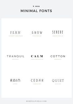9 Free Minimal Fonts — Mindful Pixels Fonts and typography - TYPOgrafie - Web Design, Font Design, Branding Design, Branding Ideas, 2020 Design, Type Design, Clean Design, Label Design, Package Design