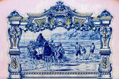 Painel de azulejos na Nazaré