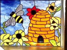 Bee - Delphi Stained Glass