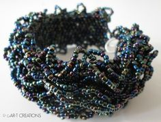 BlueIris seed beads 12/o and 8/o.