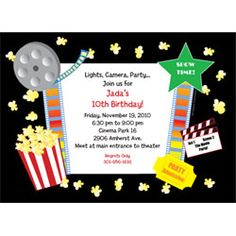 Free Hollywood Theme Party Ideas | Hollywood Invitations and Free Printable Hollywood Invites