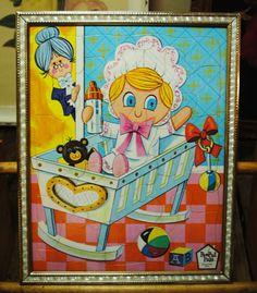 1967 Baby Nursery PeePul Pals PuzzleFramed by TabsNostalgicArts