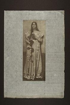 Eva Watson-Schutze The Rose 1905. Halftone, on tissue 12 x 8 3/8 ins