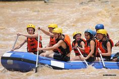 They want more as they paddle to the next wild rapid!