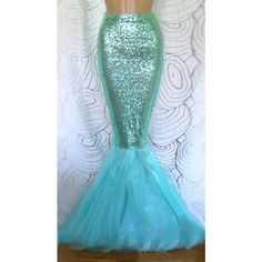 Handmade aqua blue sequin mermaid skirt. The skirt is made from high quality sequin fabric that reflects in the light. The sequin fabric and the lining are als…