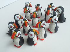 puffins 3 cm tall cute little characters each by ABullieForYou, £3.50