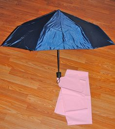 Dollar Store Crafts » Blog Archive » Make a Pink Ruffly Umbrella.....awesome for Mary Poppins Jolly Holiday Tea Party