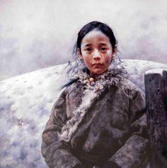 Tibet Girl by Ai Xuan | Cuded