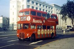 Austria all over advert n Route 27 Routemaster bus