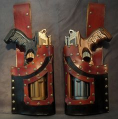 Steampunk Nerf N-Strike Leather Gun Holster Pair With Free Shipping | eBay