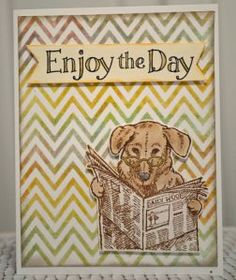 Fantastic creation by Roberta Wax featuring Newspaper Pup! #cre8time to celebrate Dad this year!