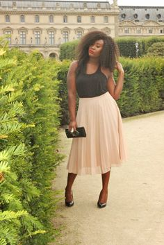 Plus rock pleats… | 19 Midi Skirt Styles You Just Have To Try
