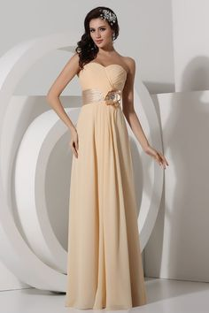 Manningtree Sexy Chiffon Sweetheart Applique Column Bridesmaid Gown [WPBD0146] - Aiven.co.uk
