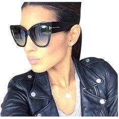 versace sunglasses 30jc  Pre-owned Tom Ford Anoushka Sunglasses Black / Gray Ft0371 $386  liked