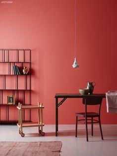 Perfekt #KOLORAT #Wandfarbe #Rot #red #Interior #Wohnideen #streichen