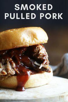 The Best Smoked Pulled Pork Recipe Smoker Recipes, Grilling Recipes, Pork Recipes, Slow Cooker Recipes, Crockpot Recipes, Cooking Recipes, Traeger Recipes, Rub Recipes, Hamburgers