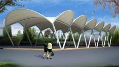 Architecture Tensile Membrane Fabric Shade Structure Tent Canopy ...