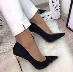 Women High Heels Black Court Heels Clear High Heel Shoes Skinny High H – robobco High Heels Boots, Black High Heels, Lace Up Heels, Pumps Heels, Shoe Boots, Classy High Heels, High Heel Pumps, High Heels Outfit, Super High Heels