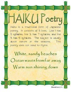 Haiku Poetry Freebie as seen on Third Grade Troop     www.thirdgradetroop.com