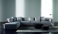 Bacon is a modular designed sofa by Meridiani it is both soft and comfy and is available in a range of fabrics from IQ Furniture.