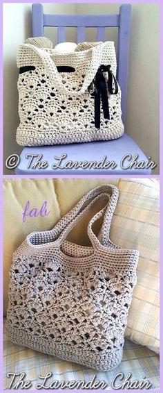 Crochet Daisy Fields Market Tote Bag Free Pattern