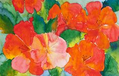 Hibiscus Flowers Painting by Michelle Wiarda - Hibiscus Flowers Fine Art Prints and Posters for Sale