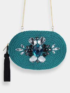 SAMPLE · Handbag Charlotte Turquoise · via Olvido Madrid ~ Lovingly Handmade. Click on the image to see more!