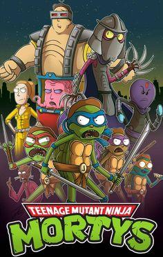 Rick and Morty x Teenage Mutant Ninja Turtles