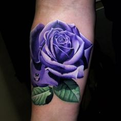 62 Ideas for purple rose tattoo realistic Lila Tattoos, Rose Tattoos For Men, Body Art Tattoos, Sleeve Tattoos, Tattoos For Guys, Tattoos For Women, Tatoos, Colorful Rose Tattoos, Purple Flower Tattoos