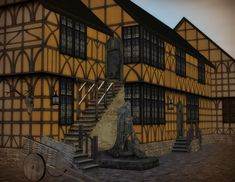 """The Medieval Smithy SIMS 2: Wall Set """"Tewdwr"""""""